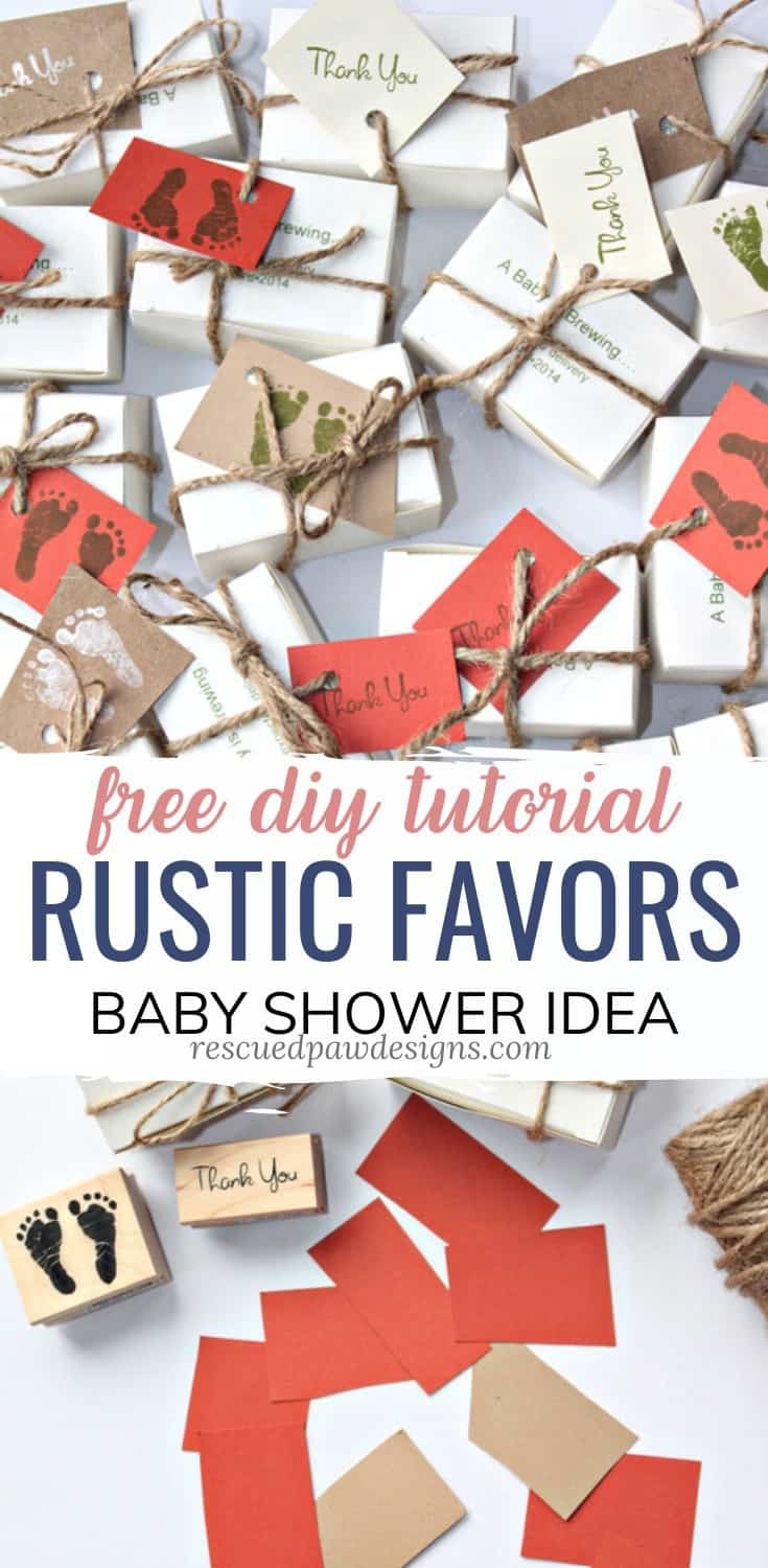 Rustic Baby Shower Favors DIY
