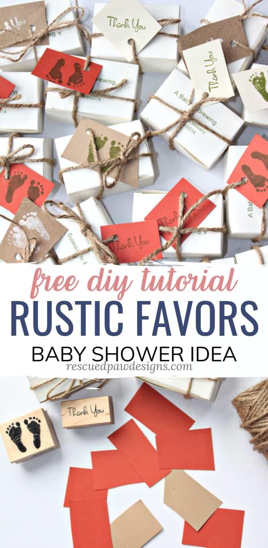 Rustic Baby Shower Favors DIY