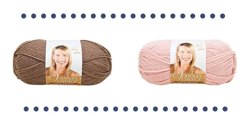 Vanna's Choice Yarn in Pink and Taupe