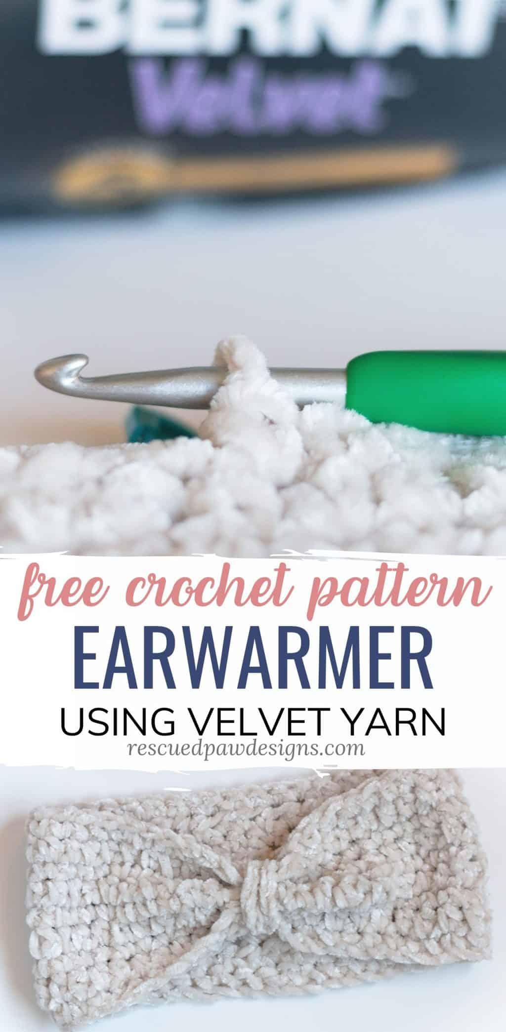 Crochet Headband Pattern using Velvet Yarn