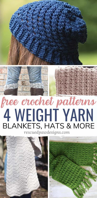 Free Crochet Patterns Using Worsted Weight Yarn Easycrochet Com