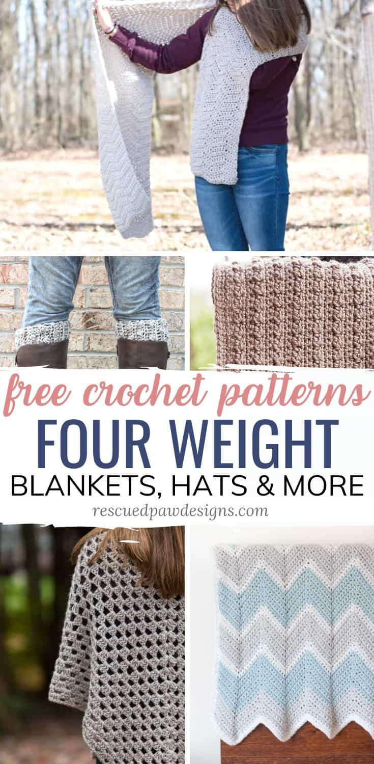 4 yarn weight crochet patterns