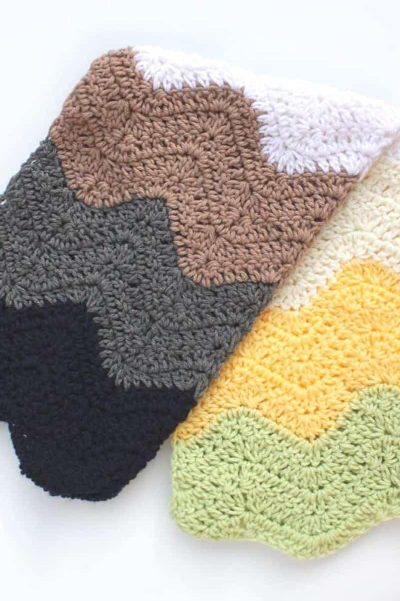 Wavy Crochet Baby Blanket
