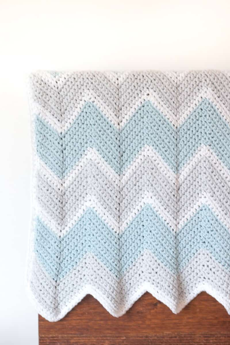 Crochet Baby Blanket Pattern Chevron Easycrochet Com