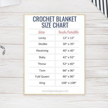 Free Crochet Blanket Size Guide