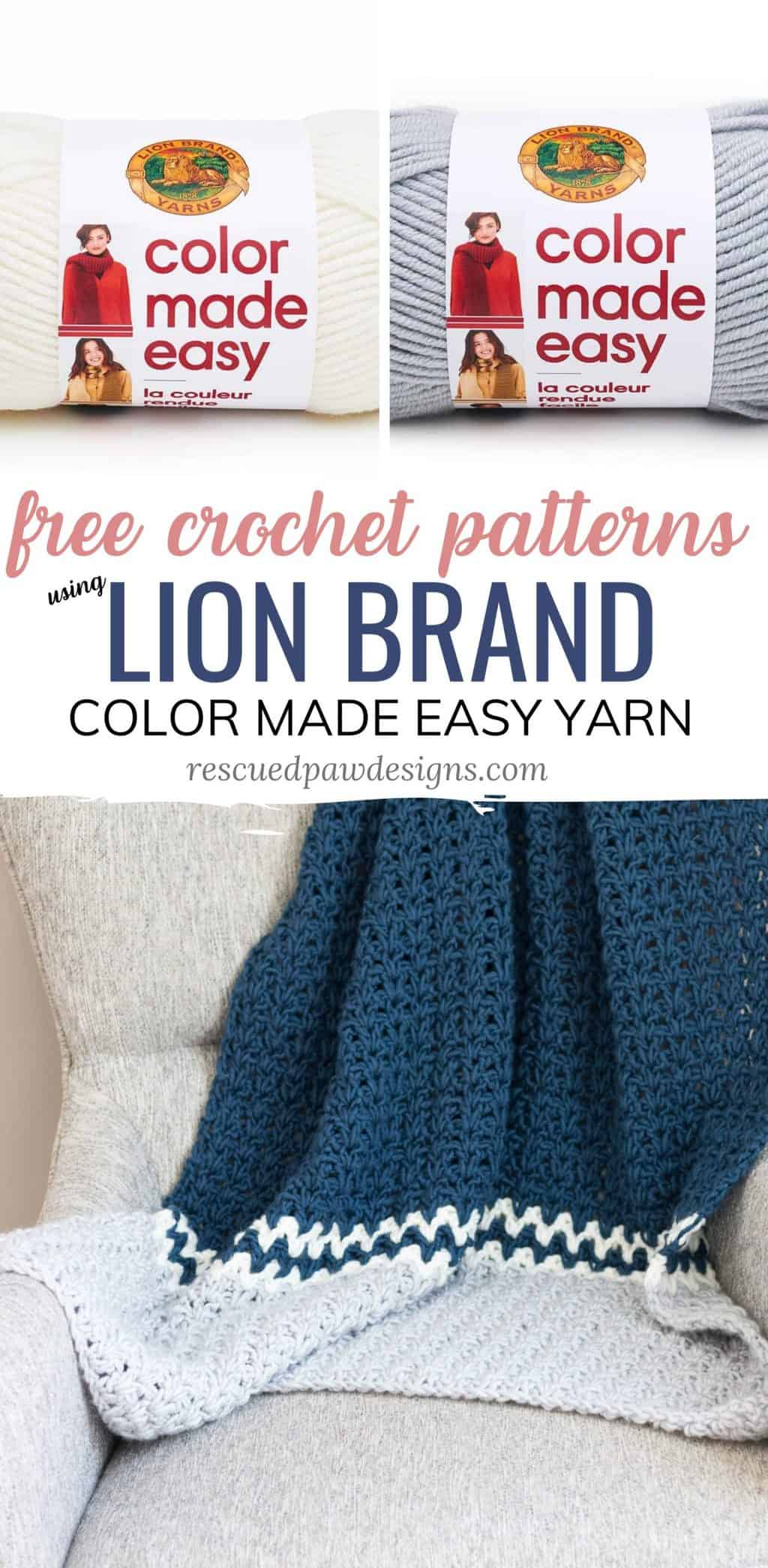 Lion Brand Yarn Color Made Easy Crochet Patterns