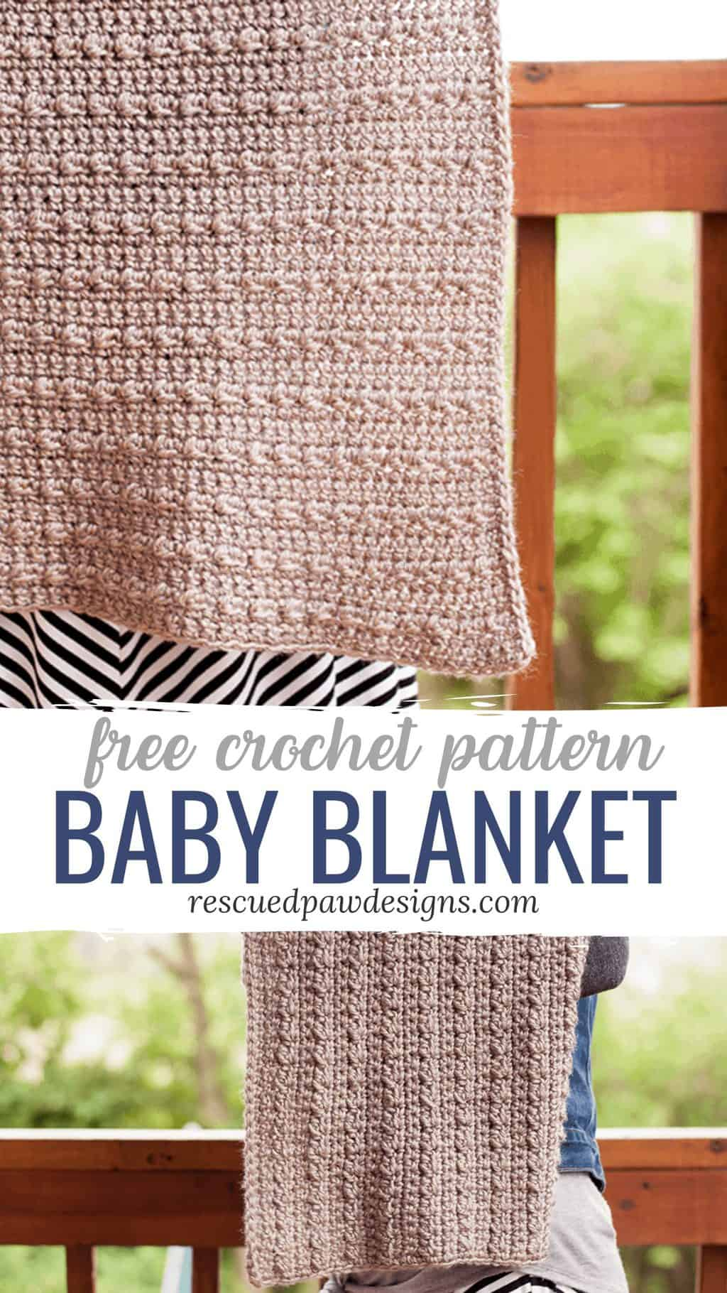 how to crochet an easy baby blanket