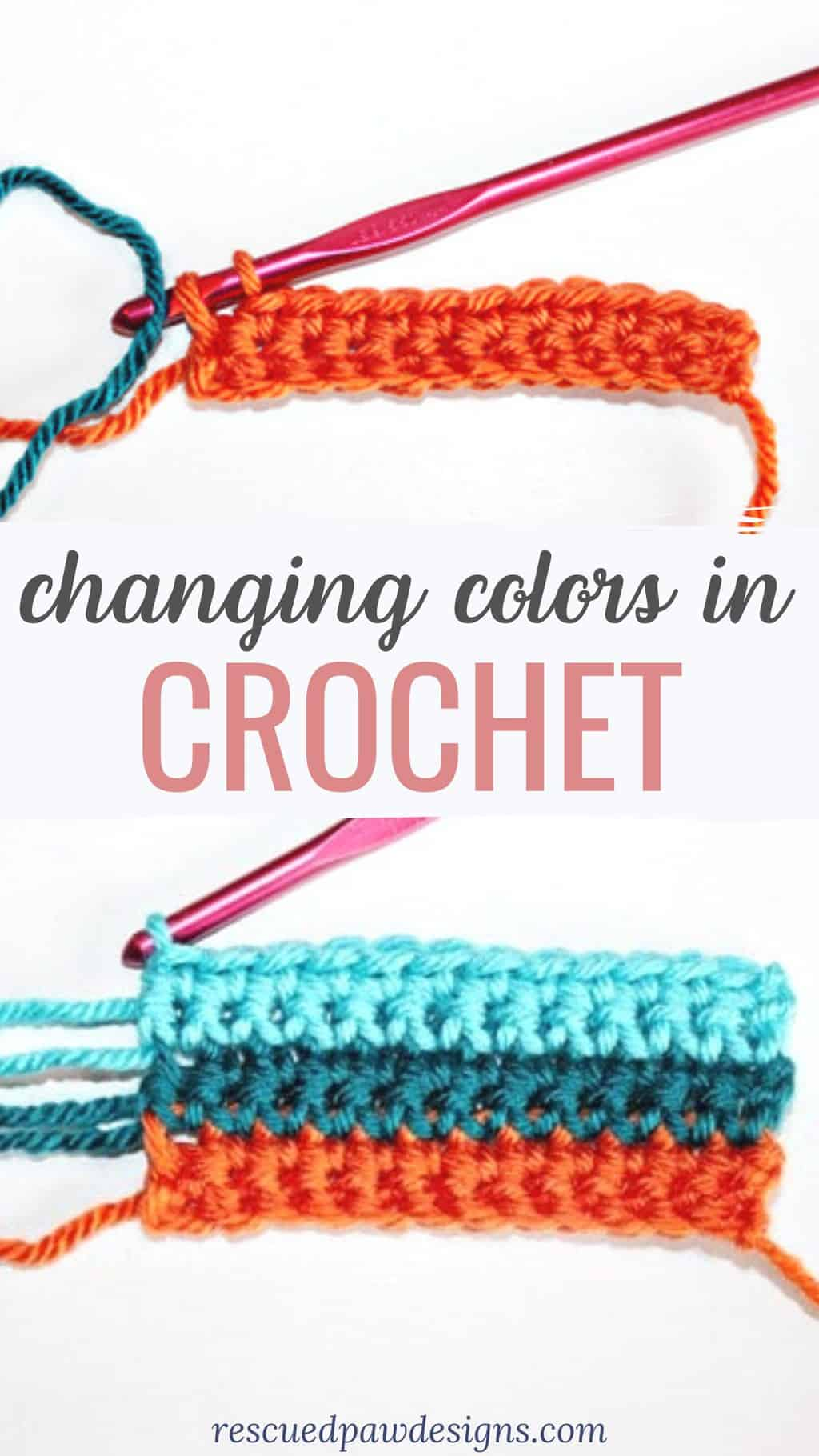 how to change yarn color when crocheting