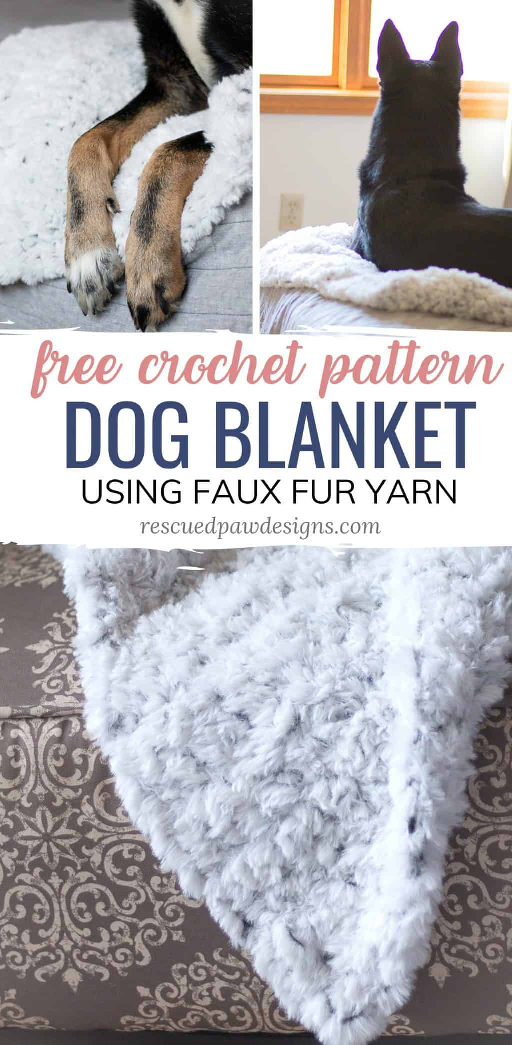 Faux Fur Crochet Blanket Pattern for Dogs