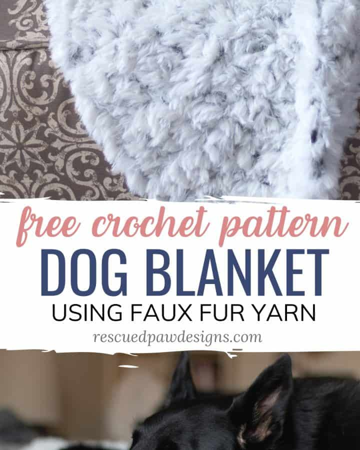 Faux Fur Yarn Blanket for Dogs