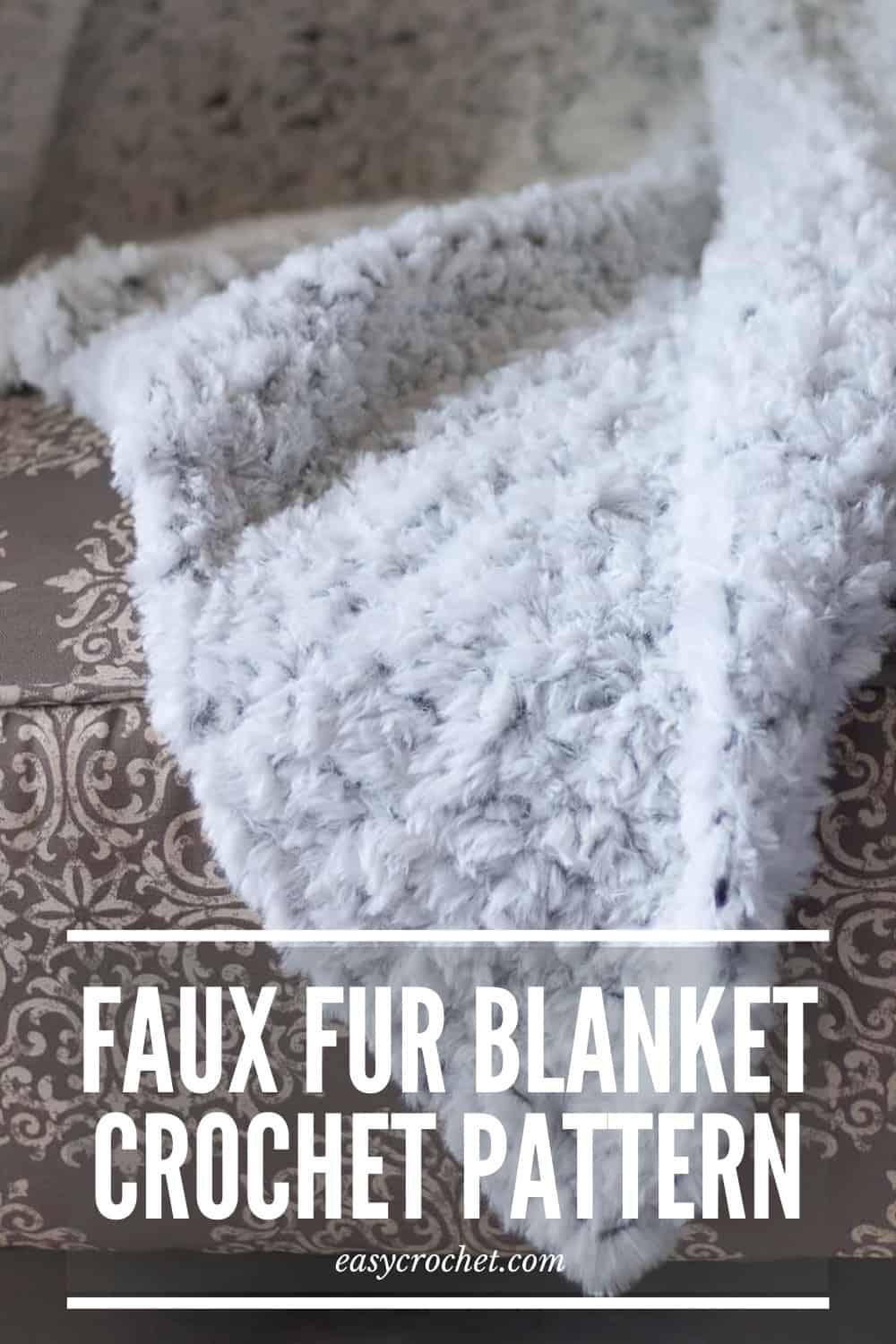 Free Crochet Blanket Pattern using Faux Fur Yarn from Easycrochet.com via @easycrochetcom