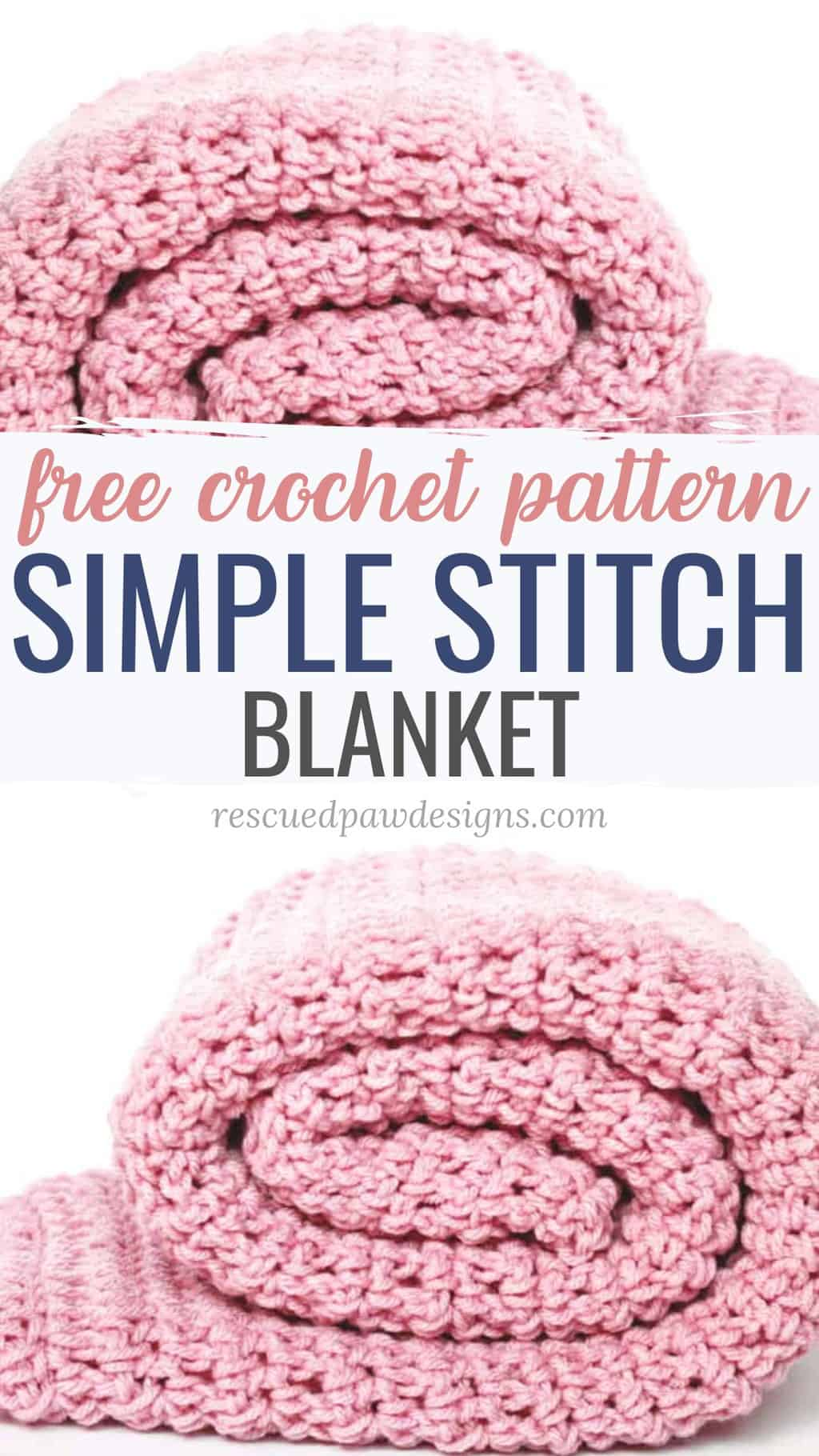 simple stitch crochet blanket
