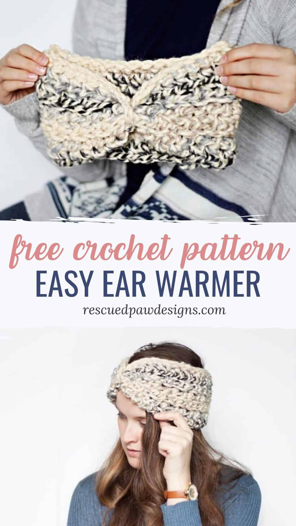 Easy Crochet Ear Warmer Pattern