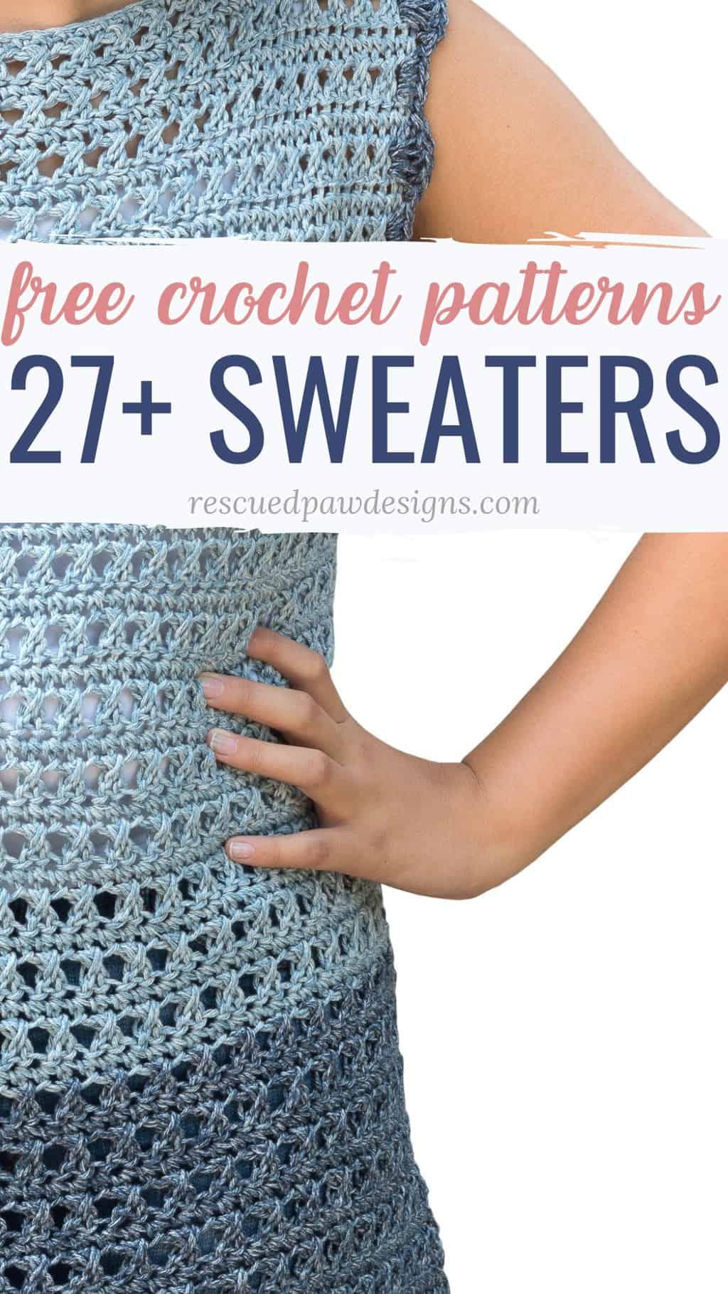 27 Free Easy Crochet Sweater Patterns Easycrochet Com