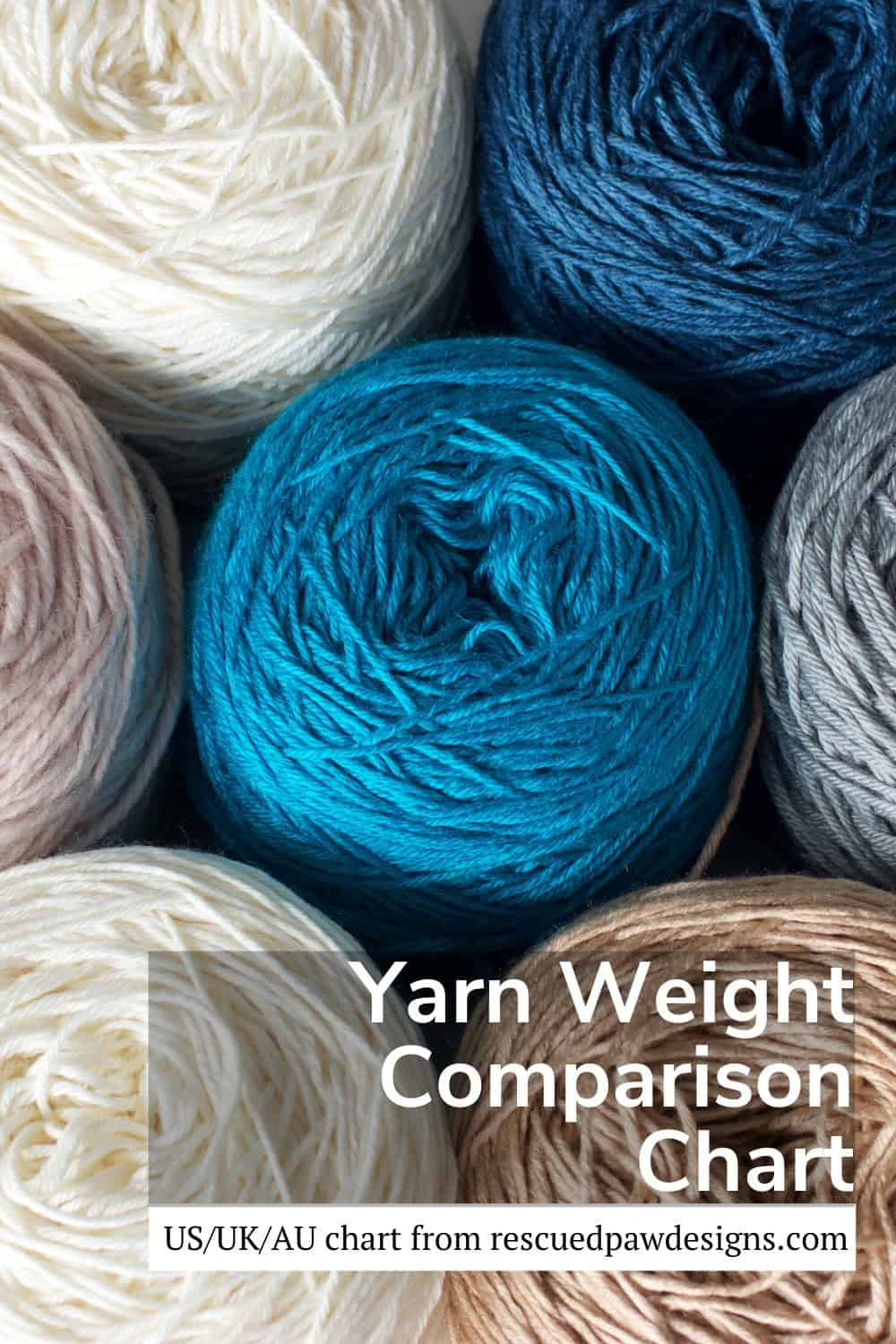 Yarn Weight Comparision Chart