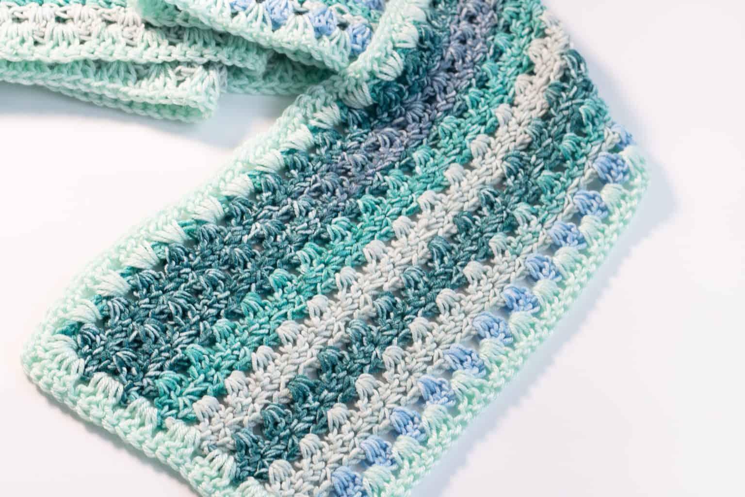 Ombre Double Crochet Cluster Crochet Scarf Pattern