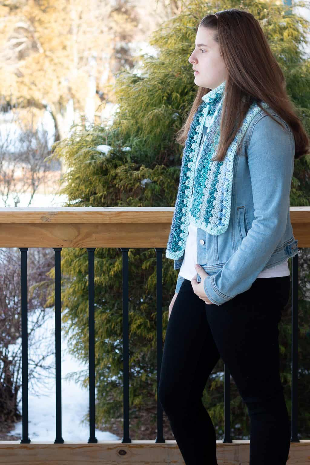 Beautiful Crochet scarf Pattern for Free