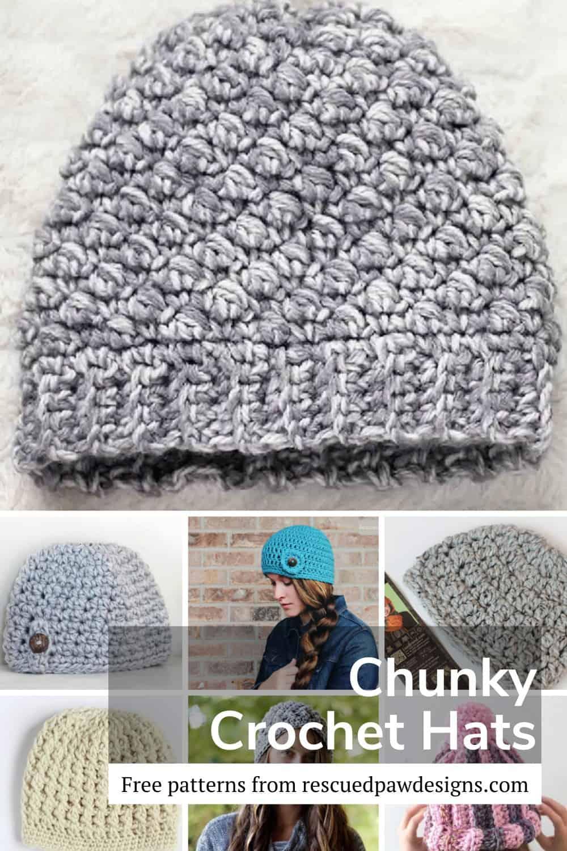 Crochet Hats using Bulky and Chunky Yarn