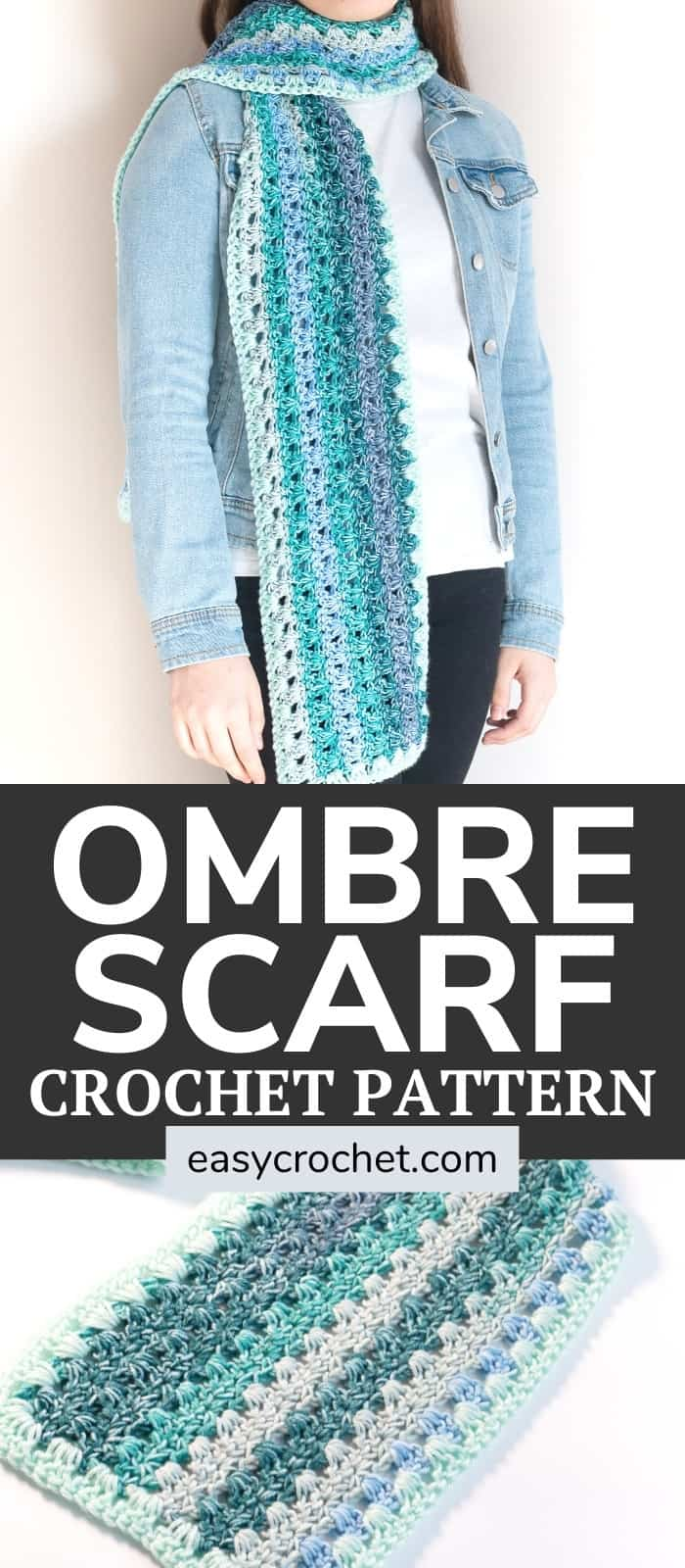 Free Crochet Scarf Pattern for an easy-to-make crochet scarf using Mandala yarn! Find the free pattern at easycrochet.com via @easycrochetcom
