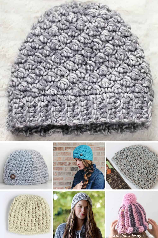 Crochet Hat Patterns that All Use Bulky Yarn