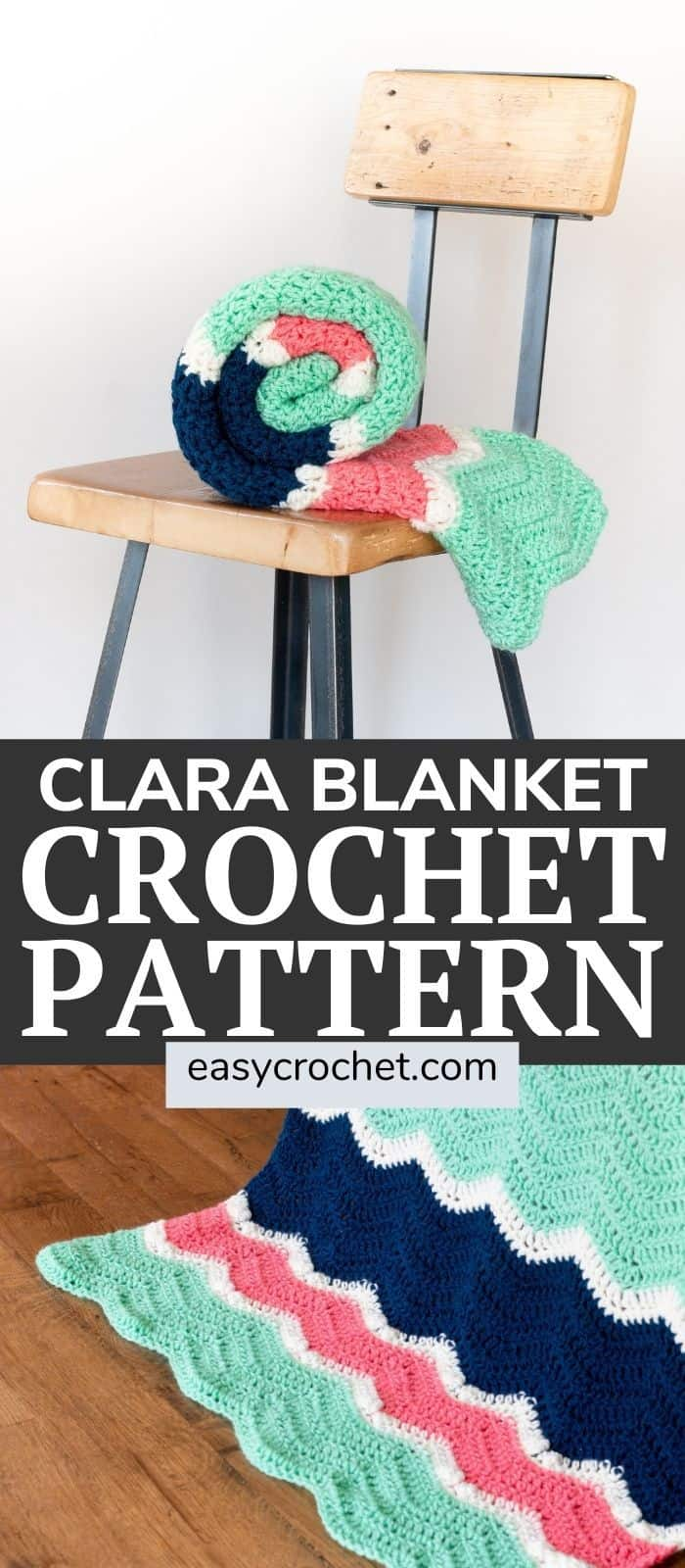 Make this crochet blanket pattern using the double crochet stitch! Free pattern from easycrochet.com. Find this design and many more. #crochetblanket #easycrochet #freecrochetpattern via @easycrochetcom