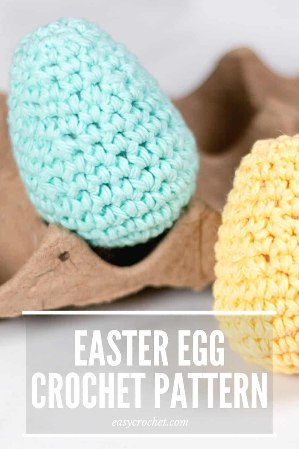 Free Easter Egg Crochet Pattern by Easy Crochet. Make this fun Easter crochet pattern and reuse them year and year again! via @easycrochetcom