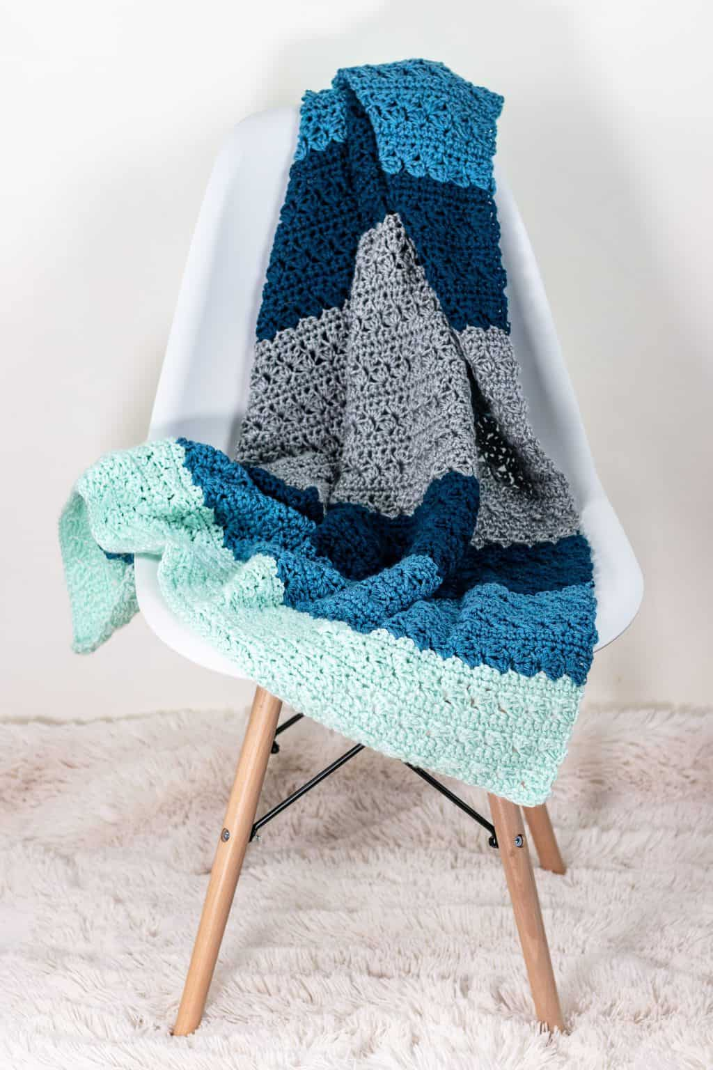 Simple Stitch Crochet Baby Blanket Pattern