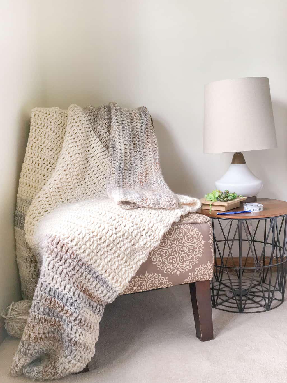 Double Crochet Blanket Pattern in Eight Sizes