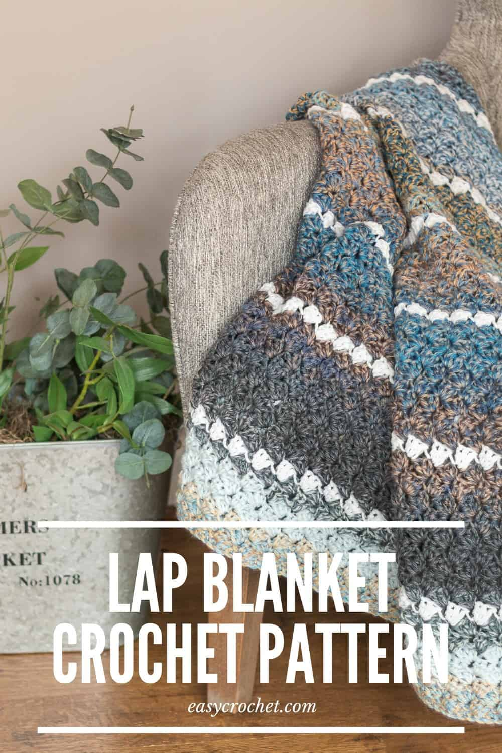Free Crochet Lap Blanket Pattern using three beginner-friendly crochet stitches! Free Crochet Blanket Pattern from Easycrochet.com via @easycrochetcom