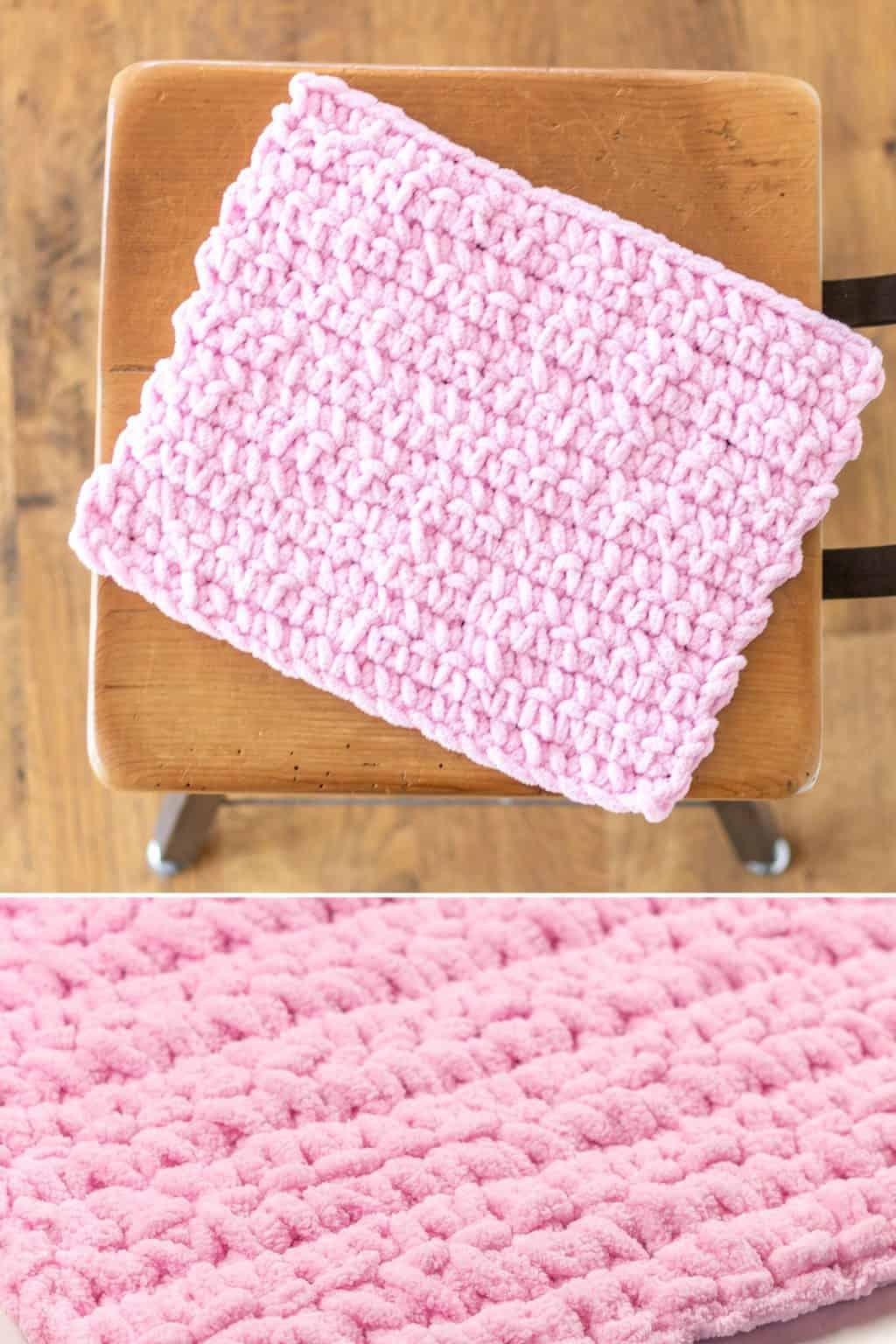 Single Stitch Crochet Baby Blanket