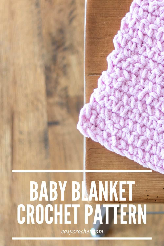 Easy Crochet Baby Blanket Pattern that is GREAT for beginners to make! via @easycrochetcom