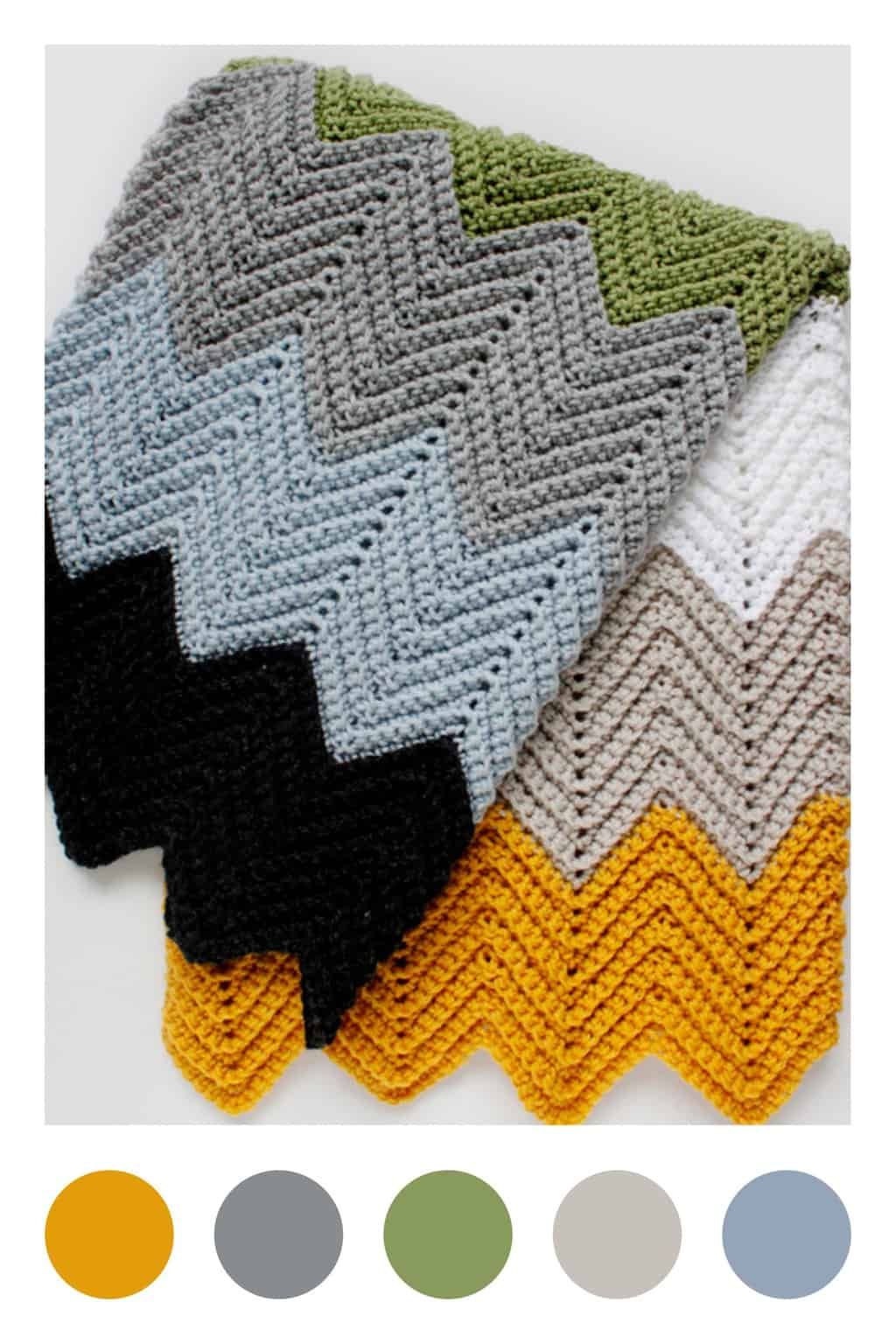 Colorful Chevron Crochet Blanket Pattern