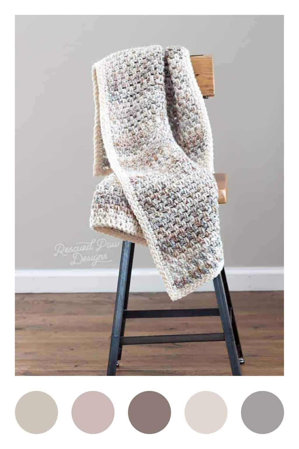 Jane Crochet Throw Blanket Yarn Colors