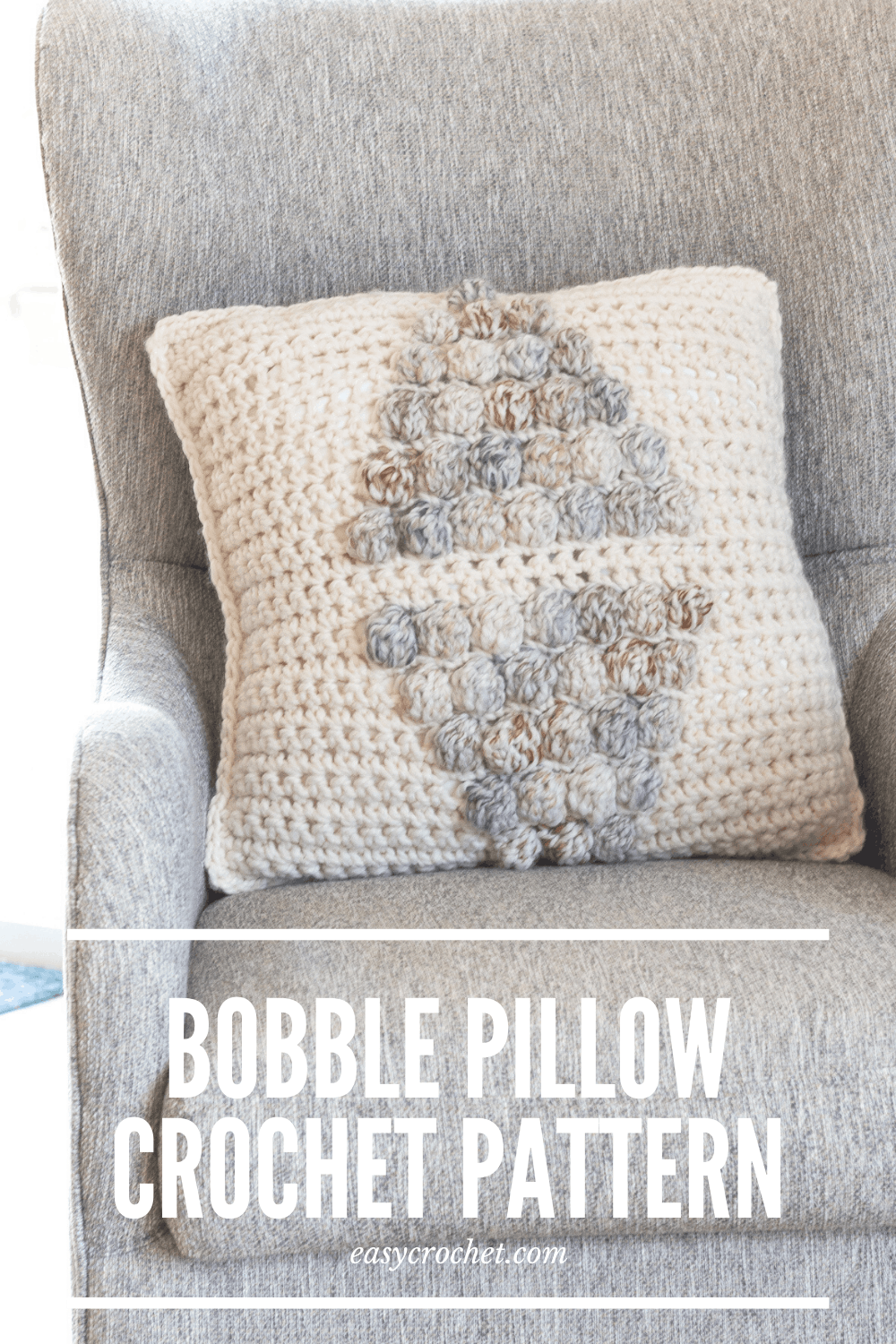 Bobble Stitch Pillow Crochet Pattern