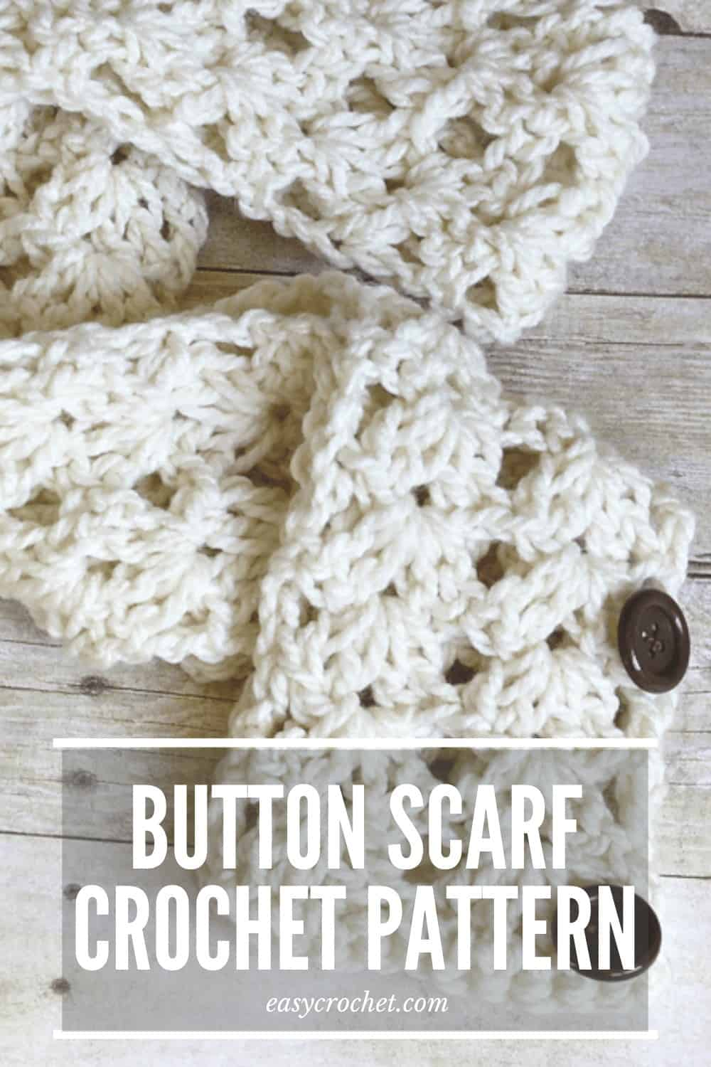 button scarf crochet pattern