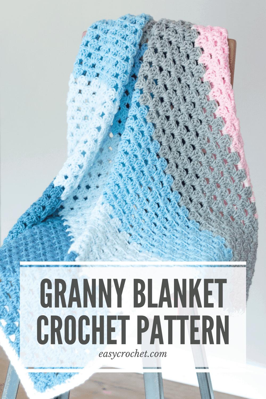 Straight Granny Stitch Afghan Pattern