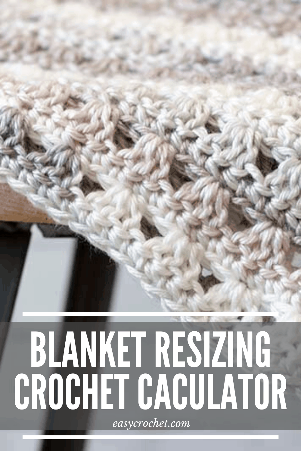 Use this free crochet tool to learn how to change the size of any crochet blanket pattern! via @easycrochetcom