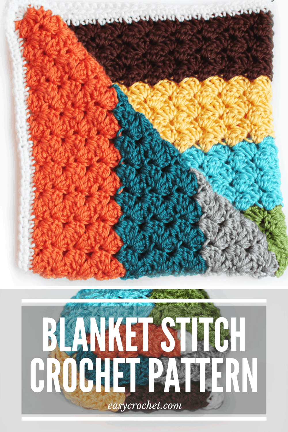 How To Crochet A Blanket Stitch Pattern Easy Crochet