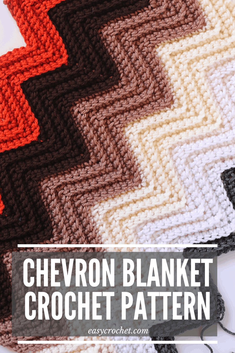 back loop crochet chevron blanket pattern