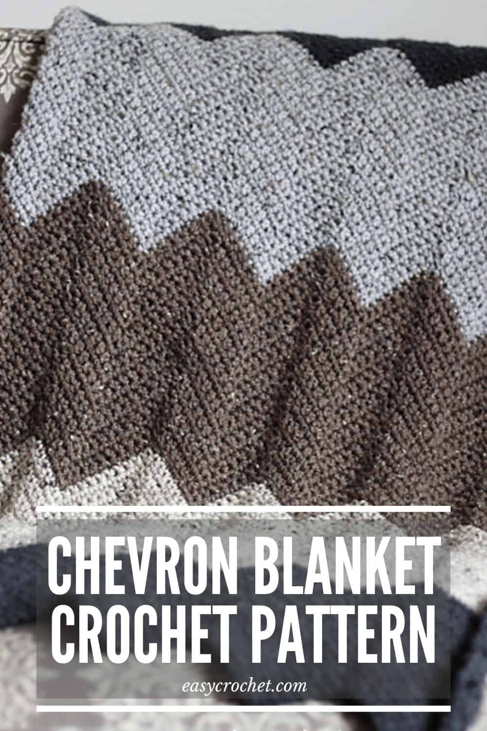 Chevron Crochet Blanket Throw Pattern Free