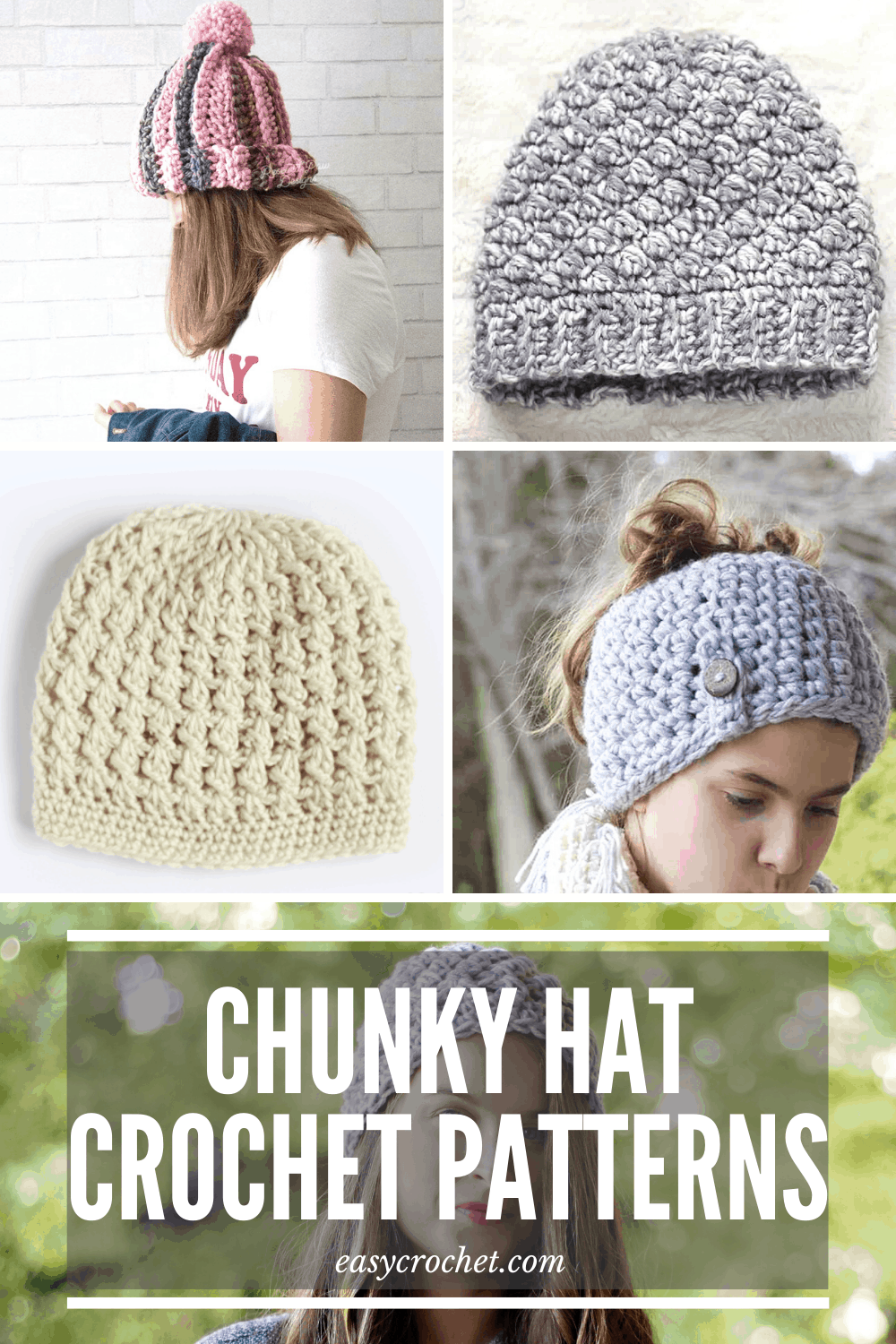 Chunky and Bulky Crochet Hat Patterns Free