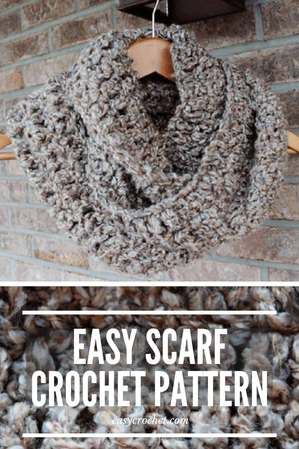 EASY crochet scarf pattern for beginners