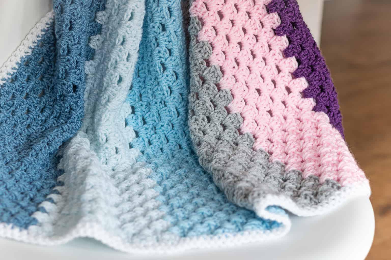 crochet modern baby blanket