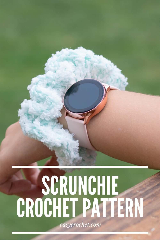 Crochet Hair Scrunchies Pattern