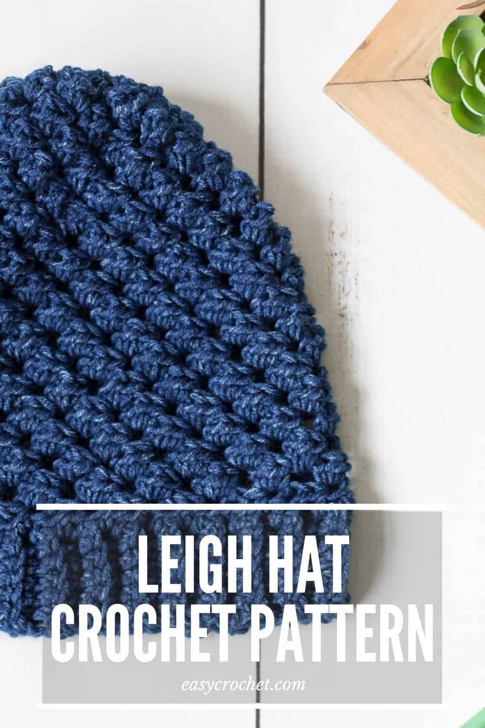 Leigh Hat Crochet Pattern - free #hatnothate crochet pattern for Lion Brand Yarn via @easycrochetcom