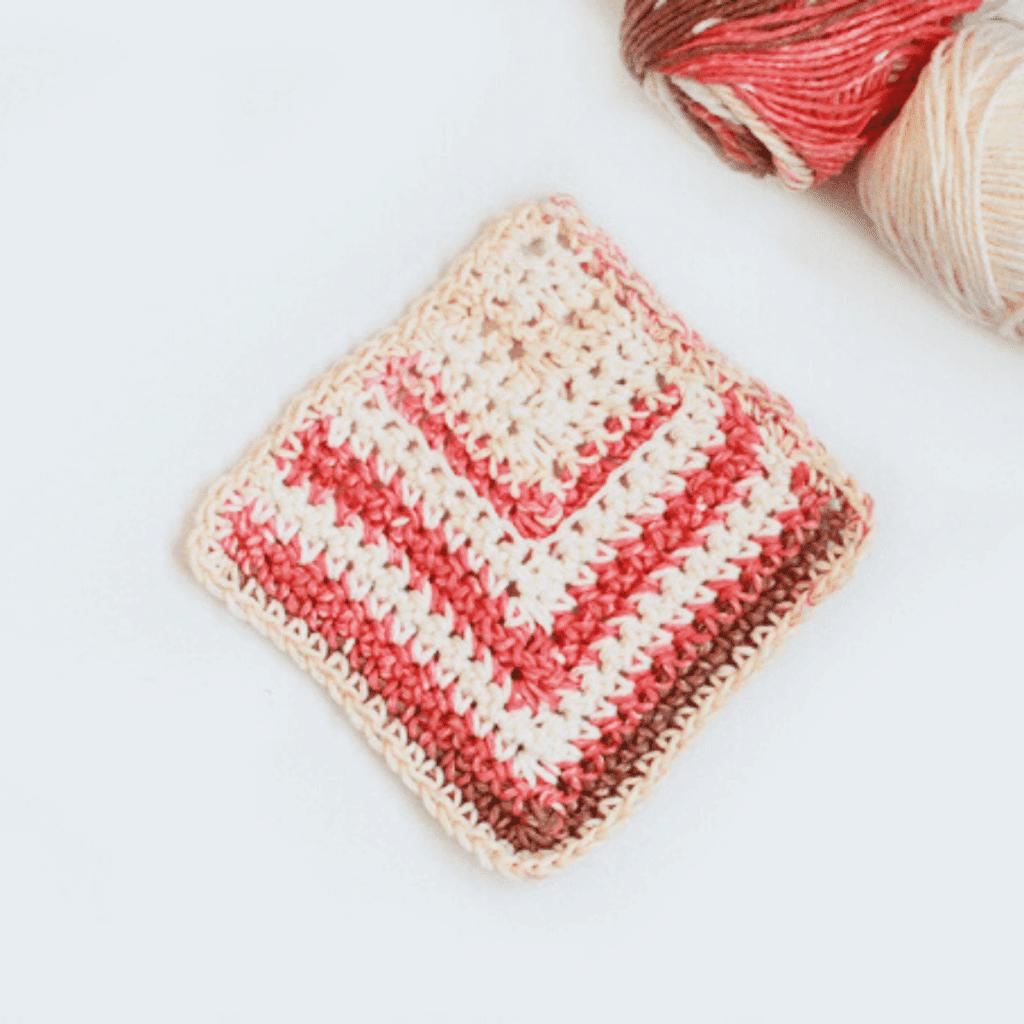 Free Crochet Pattern Mitered Square