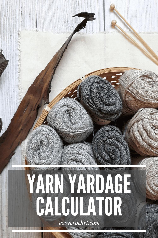 Free yarn yardage calculator