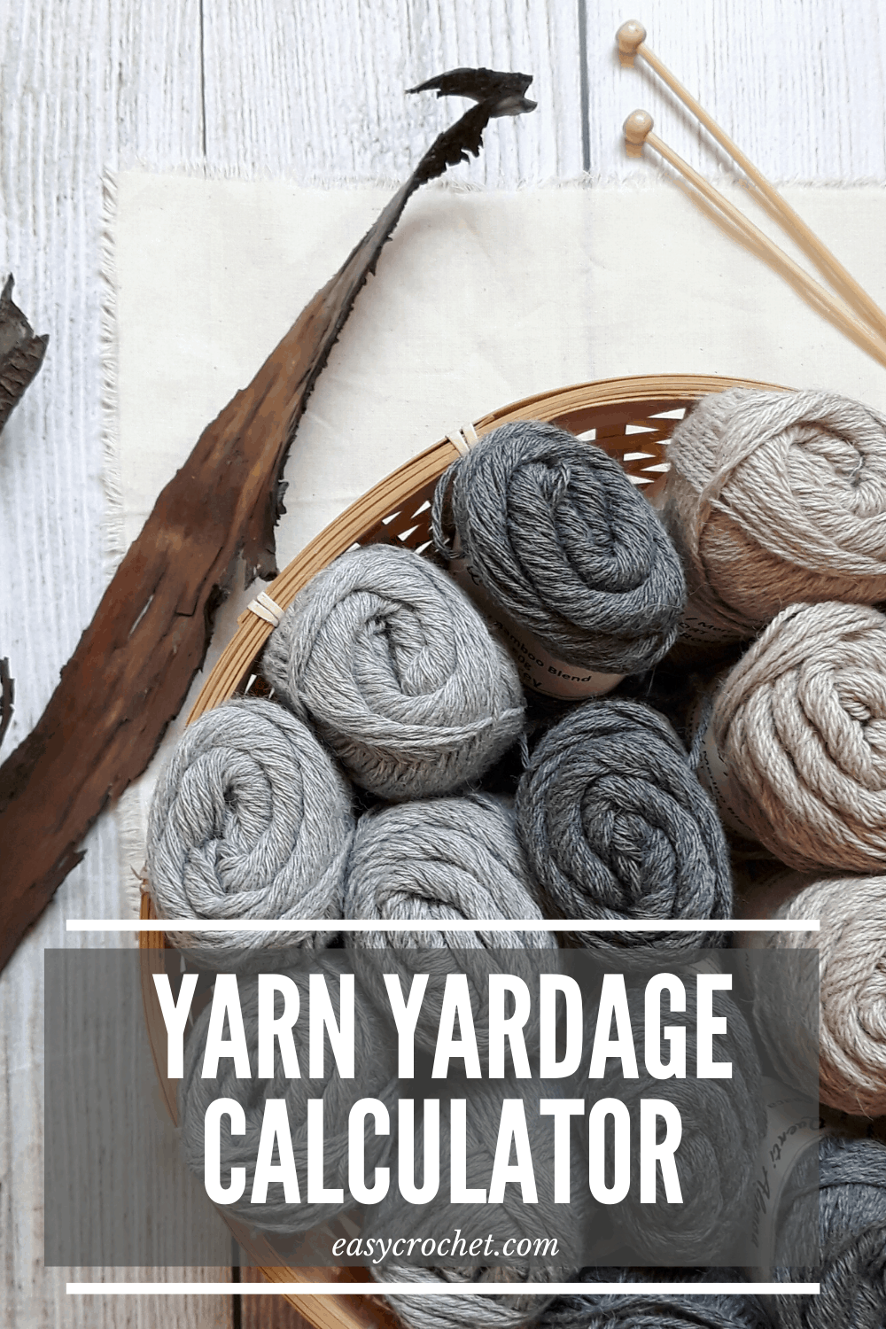 Free Yarn Yardage Calculator. Figure out how much yarn you used in a project! Free tool for crocheters & knitters! via @easycrochetcom