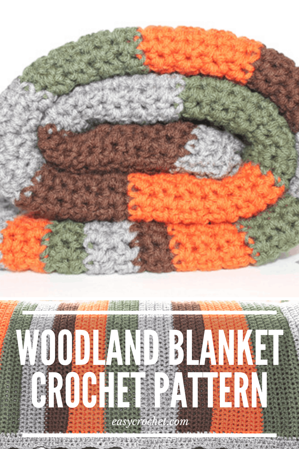 woodland crochet baby blanket patteren