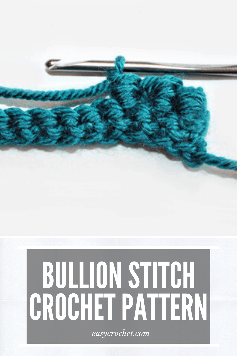 Bullion Stitch Crochet Tutorial